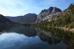 Sierra Nevada Mountain Silver Lake. A beautiful lake in the Sierra Nevada Mountains.  Silver Lake Stock Images
