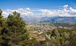 Sierra Nevada mountains. Scenic view of road through Sierra Nevada mountains, Andalusia, Spain Royalty Free Stock Images