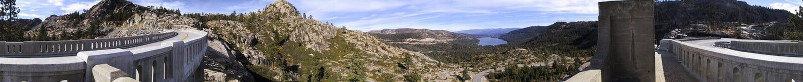 Sierra Nevada Mountains. A 360 degree panoramic view of the Sierra Nevada mountains in California, USA royalty free stock photos