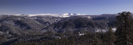 Sierra Nevada Mountains. A landscape view of the Sierra Nevada mountains royalty free stock photography