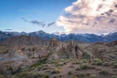 Sierra Nevada Mountains and Alabama Hills Royalty Free Stock Image
