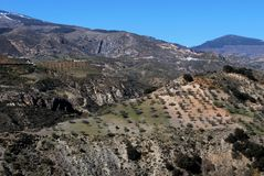 Sierra Nevada mountains, Andalusia. Royalty Free Stock Image