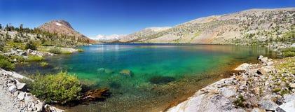 Alpine Lake Panorama, Sierra Nevada, California Stock Photos