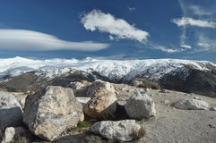 Sierra Nevada mountains in southern Spain Stock Image