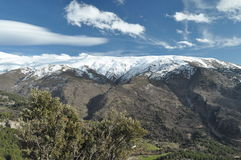 Sierra Nevada mountains in southern Spain Royalty Free Stock Image