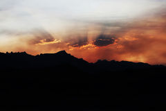 Sierra Nevada Mountains Sunrise. A beautiful sunrise in the Sierra Nevada Mountains Stock Photography