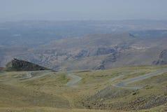 Sierra Nevada ospita gli più alti picchi della Spagna interna Fotografia Stock