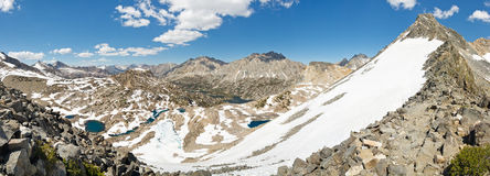Sierra Nevada Panorama from Glen Pass Royalty Free Stock Photo