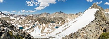 Sierra Nevada Panorama from Glen Pass Royalty Free Stock Photo