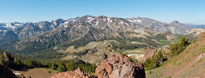 Sierra Nevada Panorama at Sonora Pass Royalty Free Stock Photo