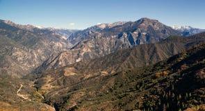 Sierra Nevada Range Outdoors del Canyon California di re Immagini Stock Libere da Diritti