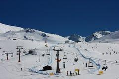 Sierra Nevada ski resort in Spain Royalty Free Stock Photography