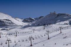Sierra Nevada-Skiort Lizenzfreie Stockfotos