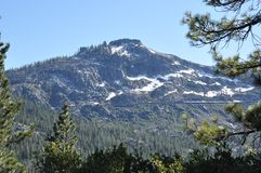 Sierra nevada snow covered mountain Royalty Free Stock Photography