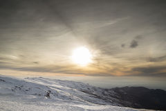 Sierra nevada sunset Stock Image