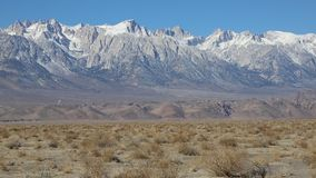 Sierra Nevada. View at Sierra Nevada mountains from Owens Valley, California stock video footage