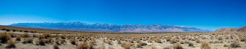 Sierra Nevada Vista de vallée d'Owens images libres de droits