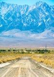 Sierra Nevada Vista della valle di Owens fotografia stock