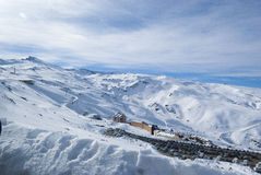 Sierra Nevada. Winter holidays, Sunny day in Sierra Nevada, Granada Royalty Free Stock Photos