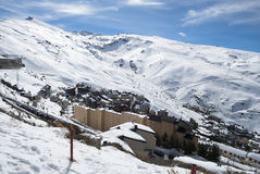 Sierra Nevada. Winter holidays, Sunny day in Sierra Nevada, Granada Royalty Free Stock Images