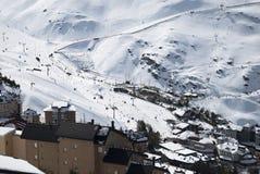 Sierra Nevada. Winter holidays, Sunny day in Sierra Nevada, Granada Stock Image