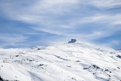 Sierra Nevada. Winter holidays, Sunny day in Sierra Nevada, Granada Stock Photo