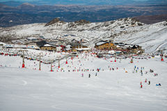 Sierra Nevada zimy kurort Zdjęcia Royalty Free