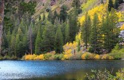 Sierra orientale lago della montagna Fotografia Stock