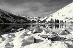 Sierra orientale scène de l'hiver Image stock