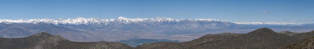 Sierra panorama - moitié du nord Photographie stock libre de droits