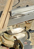 Sierra portátil del disco, herramientas eléctricas de la carpintería Foto de archivo libre de regalías