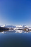 Sierra Salvada with lake reflections Royalty Free Stock Images