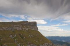 Sierra Salvada mountain peak panorama. Cloudy sky Royalty Free Stock Photo