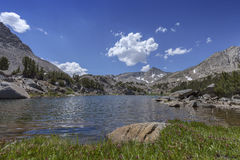 Sierra Summer Lake. Clear Sierra Nevada mountain lake on Pacific Crest Trail Royalty Free Stock Photos