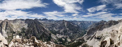 Sierra Summit Panorama Stock Photos