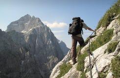Sierra traccia nelle alpi di Julian Fotografia Stock Libera da Diritti