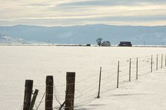Sierra Valley ranch in Winter. Stock Image