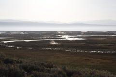 Sierras del este monta?as y aguas termales de Whitmore de los desiertos fotos de archivo