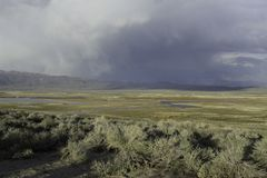 Sierras orientales montagnes et déserts Whitmore Hot Springs images libres de droits