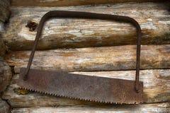 Sierras oxidadas viejas foto de archivo libre de regalías