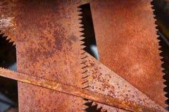 Sierras oxidadas viejas fotografía de archivo