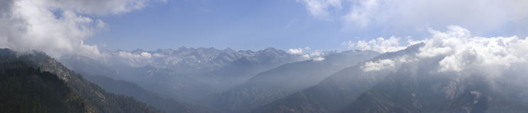 The Sierras Panoramic. Sierra Mountains view from Moro Rock Sequoia, looking east. The Great Western Divide. Very High Res Royalty Free Stock Photo