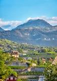 Sierre, die Schweiz Stockbild