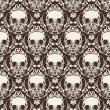 Sierschedel Naadloos Patroon - Vector royalty-vrije illustratie