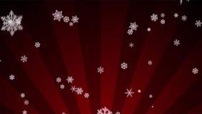 Siersneeuw op Rode Radiale Lijn stock videobeelden