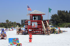 Siesta Beach Lifeguard Station Stock Images
