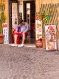 Siesta em Roma fotos de stock