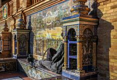 Free Siesta In The Sun At The Plaza De Espana In Seville, Spain. Stock Images - 131026444