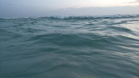 Siesta Key Beach Tide Coming In. The ocean tide coming in and lapping against the sand. Siesta Key Beach, USA stock video