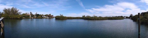 Siesta Keys Canal area paroramic Stock Photo